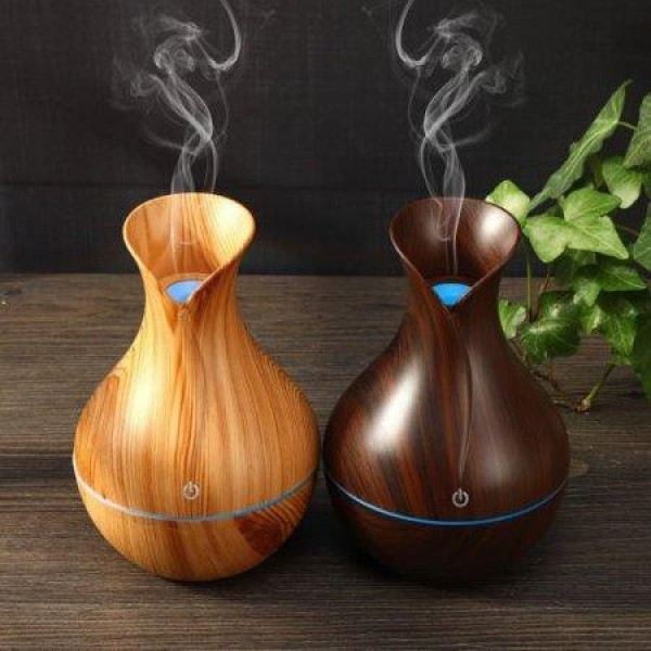 Máy phun sương tạo ẩm vân gỗ cổ cao-Phun xông tinh dầu cổ cao-Máy Khuếch Tán Tinh Dầu Vân Gỗ Cổ Cao