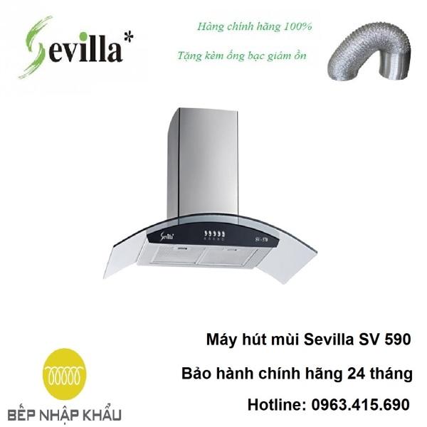 Bảng giá Máy hút mùi Sevilla SV 590, được thiết kế tinh tế, hiện đại, làm từ chất liệu hợp kim cao cấp, chống va đập, khử mùi tuyệt đối Điện máy Pico