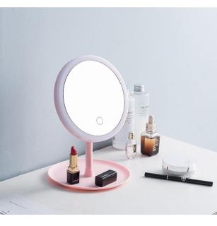 [CÓ ĐÈN LED] Gương trang điểm có đèn LED tròn cảm ứng 3 chế độ sáng, Gương trang điểm - Gương cảm ứng phụ kiện làm đẹp cho các chị em ( Màu Ngẫu Nhiên) thumbnail