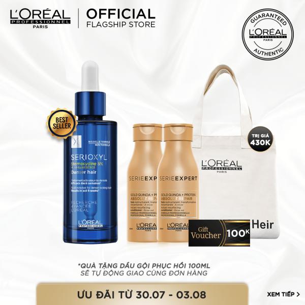 [Tặng Voucher 100k] Tinh chất hỗ trợ mọc tóc LOreal Professionnel Serioxyl Denser Hair 90ml giá rẻ