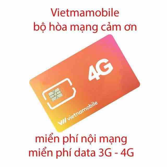 Sim Vietnamobile Gói Cảm ơn Siêu Giảm Giá