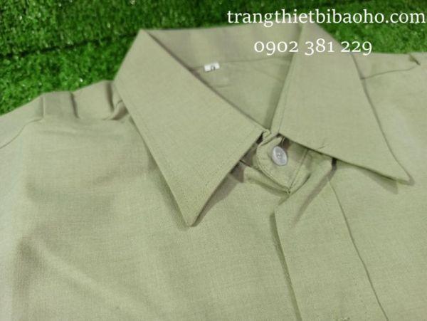 KHUYẾN MÃI - Bán lẻ áo bảo vệ vải Ford đẹp tay ngắn màu xanh vỏ đậu