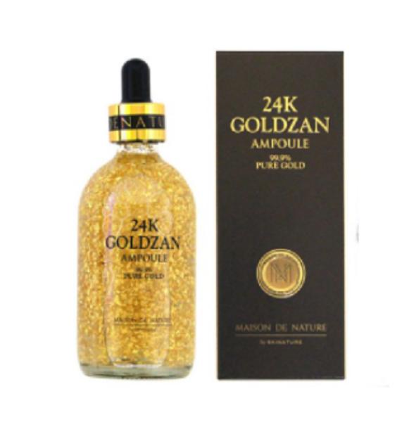 SERUM Dưỡng Trắng da Tinh Chất Vàng 24k GOLDZAN Ampoule 99.9% Pure Gold 100ML nhập khẩu