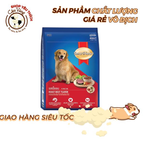 [1Kg5 & 400 Gr]Thức Ăn Khô Cho Chó Trưởng Thành Vị Thịt Bò SmartHeart Adult
