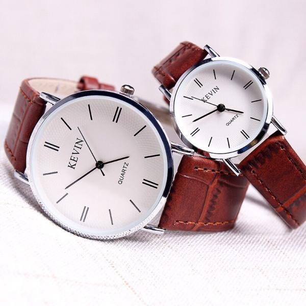 Đồng hồ thời trang nam nữ Kevin dây da siêu hot A700