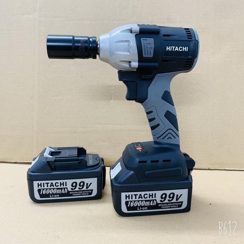 Máy siết bulong dùng pin không chổi than Hitachi 450NM - Tặng kèm 1 đầu chuyển bắt vít + 1 khẩu 22mm