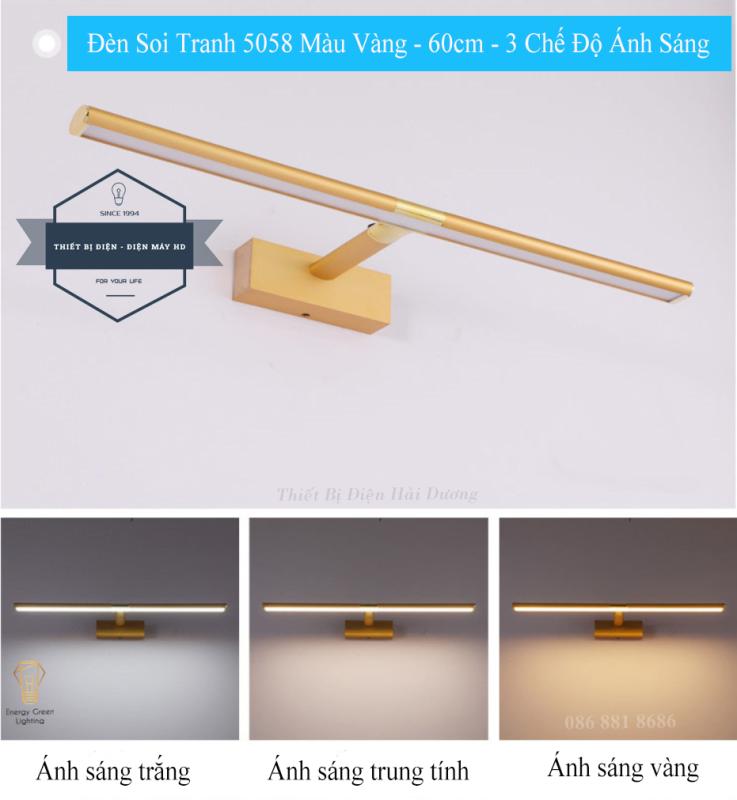 Bảng giá Đèn soi tranh - Đèn rọi gương Led Model 5058 60cm 12w 3 Chế Độ Ánh Sáng - Điều chỉnh được góc chiếu - Bảo Hành 12 Tháng