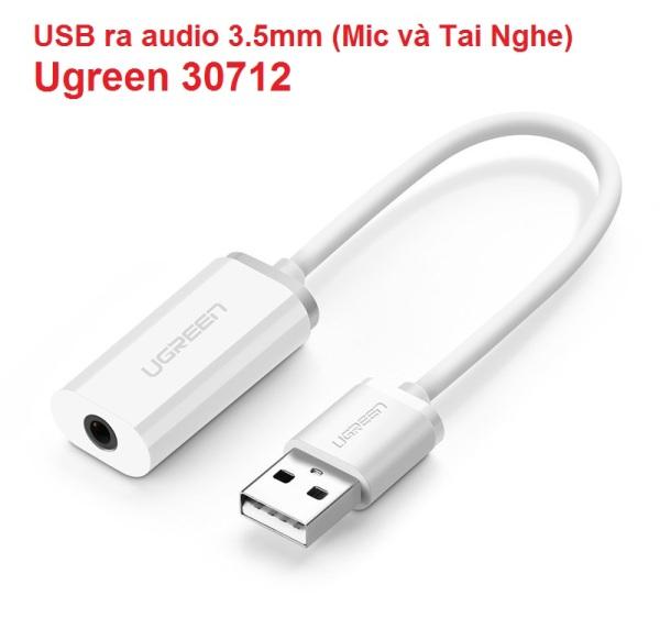 Bảng giá Cáp chuyển USB ra audio 3.5mm (Mic và Tai Nghe) Ugreen 30712 Phong Vũ