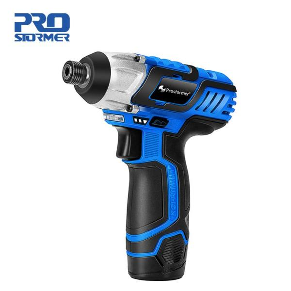 PROSTORMER 12V Electric Screwdriver Cordless Drill 100NM 2000mAh Rechargeable Lithium Battery Hexagon Power Cordless Screwdriver Screw Power Tool