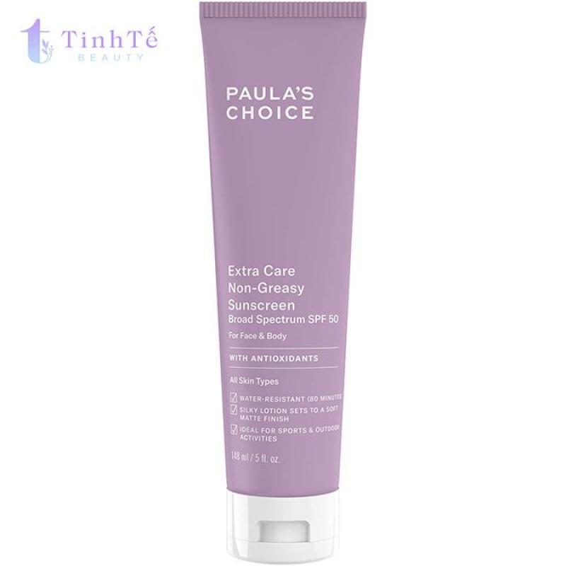 Kem chống nắng siêu chịu nước Paulas Choice Extra Care Non Greasy Sunscreen SPF 50 148ml nhập khẩu
