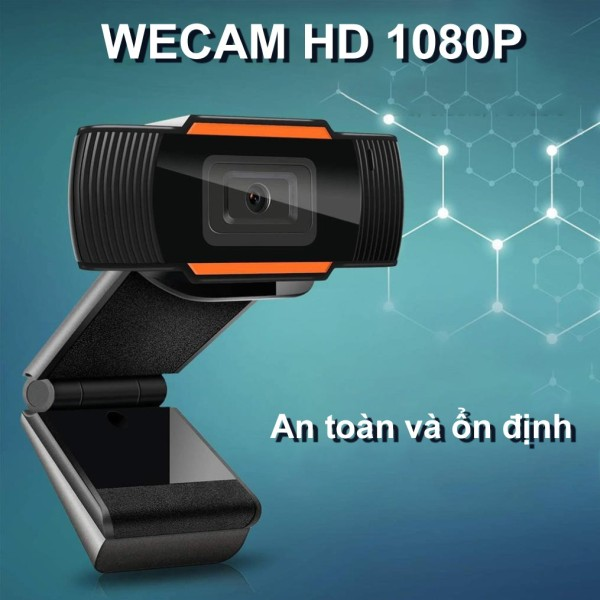 Webcam Máy Tính Full HD Siêu Nét 1080P Xoay 360 Độ, Tích Hợp Thu Âm - Phù Hợp Học Họp Trực Tuyến Online