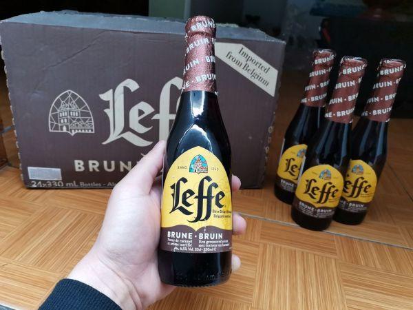 Bia Bỉ leffe nâu 6.6% 1 chai 330ml date 2022