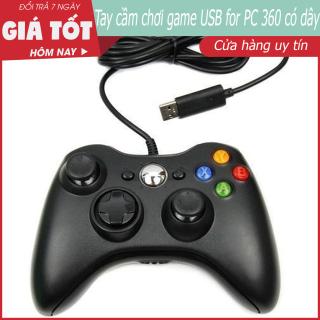 Tay cầm chơi game Pc, Hỗ trợ full skill trong Fifa Online 3, 4 FO4 và tất cả các game trên PC, Tay Cầm Chơi Game USB For PC 360 Có Dây Chơi Game Chơi Trên Laptop, PC FO3 FO4 thumbnail