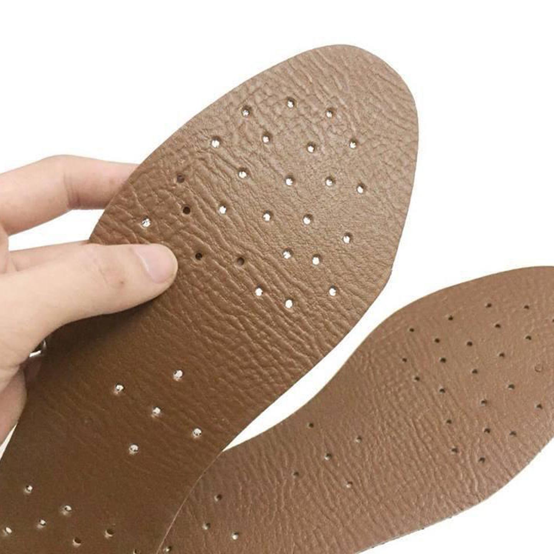 Một đôi lót da hút mồ hôi nam nữ - Miếng lót giày thông thoáng khử mùi hôi chân Aroti-LZD1