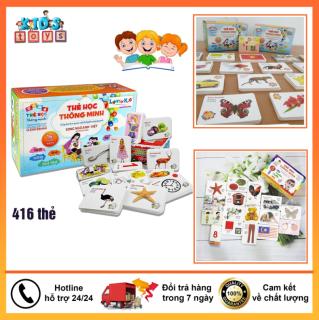 Thẻ học thông minh cho bé, đồ chơi thông minh 416 thẻ, đa dạng chủ đề giúp bé phát triển tư duy thumbnail