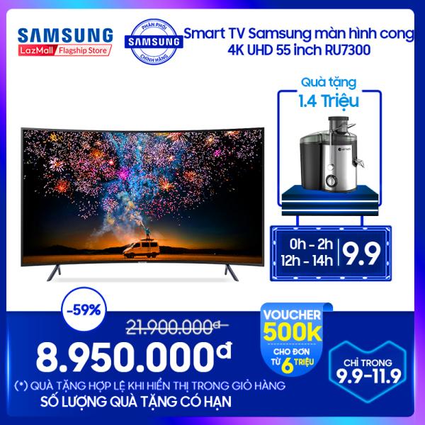Bảng giá Smart TV Samsung màn hình cong 4K UHD 55 inch RU7300, giải trí đỉnh cao, độ phân giải sắc nét, tiện ích kết nối thông minh,