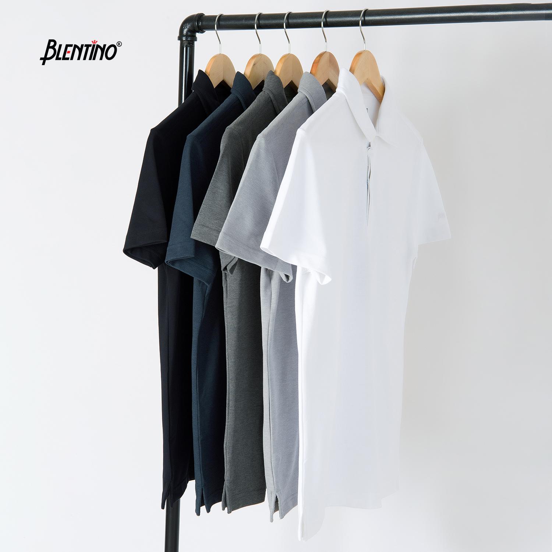 BLENTINO - Áo thun có cổ Polo nam phom dáng Reguler Fit chất liệu cotton thấm hút BL-PL27