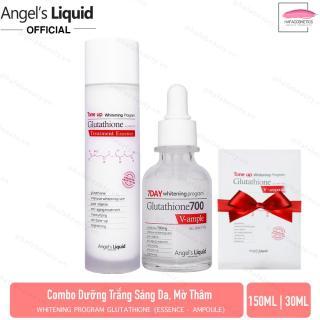 Combo dưỡng trắng da, mờ thâm Whitening Program Glutathione ( Essence 150ml + Ampoule 30ml) + Tặng kèm 1 Mặt Nạ Dưỡng Trắng Sáng Da Glutathione V-Ampoule Mask 25g thumbnail