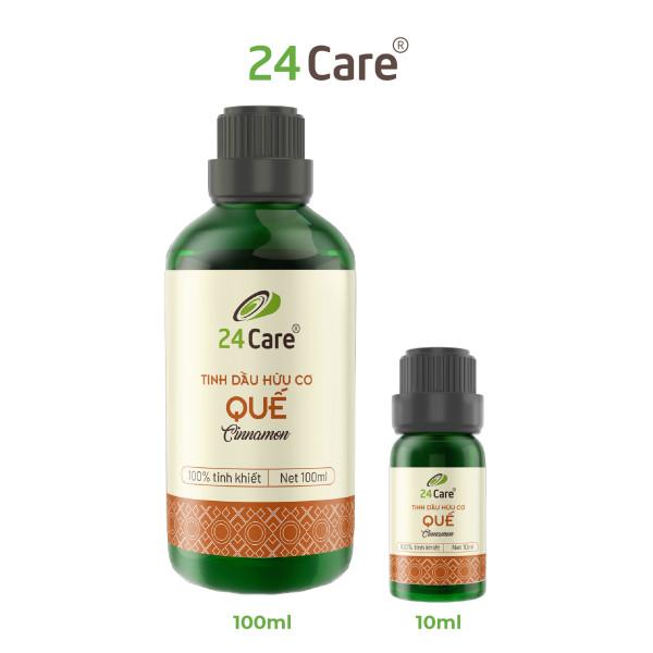 Tinh dầu Quế 100ml 24Care - diệt khuẩn, khử mùi hiệu quả, ngủ ngon, an thần