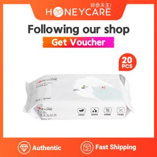 Honeycare KHĂN GIẤY ƯỚT KHÁNG KHUẨN TẮM KHÔ CHO CHÓ pet wet wipes 4 PACKS 20pcs pack thumbnail