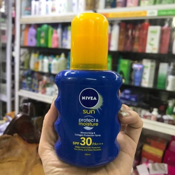 Xịt chống nắng bảo vệ và dưỡng ẩm Nivea SPF30 PA+++ (150ml) nhập khẩu