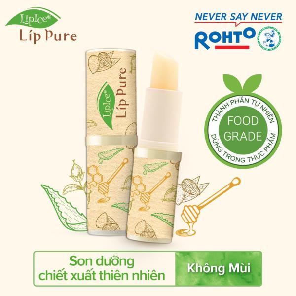 Son dưỡng chiết xuất thiên nhiên Lipice Lip Pure không mùi 4g