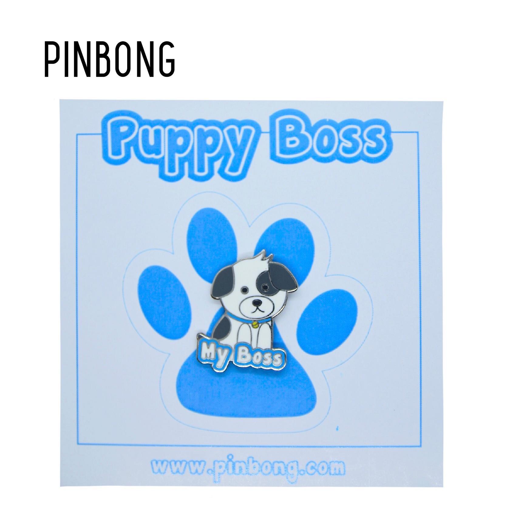 Huy Hiệu Puppy Boss PINBONG