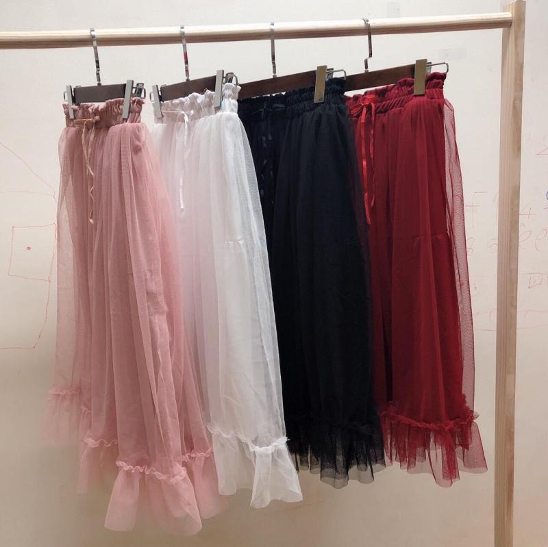 Váy lưới đuôi cá  xu hướng 2020 - MIN Boutiques - Ảnh thật - Lưng thun