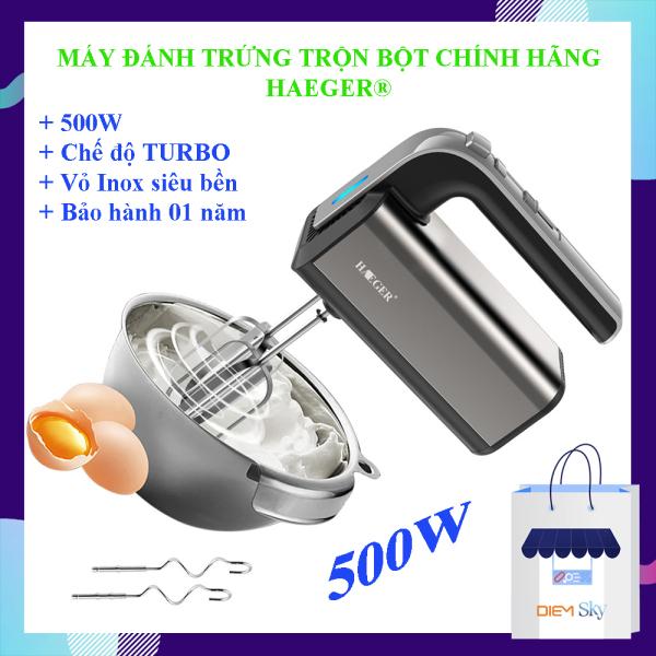Bảng giá Máy đánh trứng cầm tay HAEGER Turbo 500W, 5 tốc độ chính hãng loại 1, vỏ inox sáng bóng bền đẹp, máy đánh trứng, trộn bột... bảo hành 1 năm Điện máy Pico
