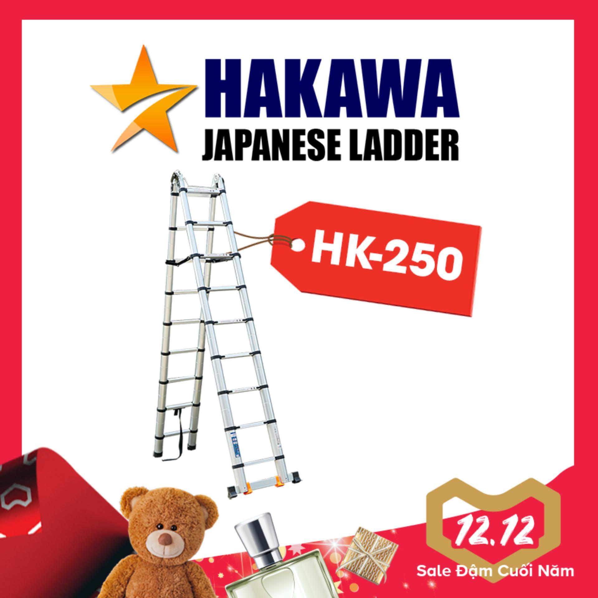 [HỖ TRỢ SHIP 100%] Thang nhôm rút chữ A HAKAWA HK250 - HÀNG NHẬT BẢN, chất lượng cao, 5 mét
