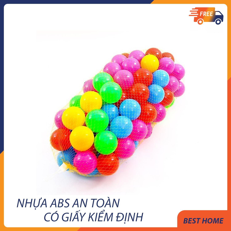 Hình ảnh Túi 100 quả bóng nhựa cho bé kích thước 5,5cm - Hàng Việt Nam - Khách hàng có thể chọn mua thêm nhà banh - Lều bóng theo ý mình