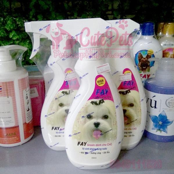 Chai xịt vệ sinh, khử mùi cho chó mèo Gray Groom dung tích 350 ml