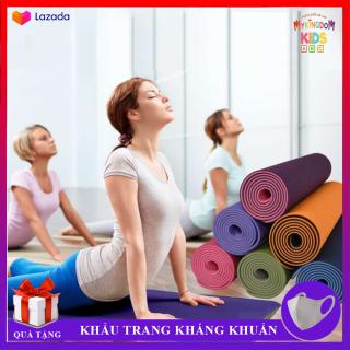 Thảm Tập Yoga TPE 2 Lớp Siêu Co Dãn - Đàn Hồi - Chống Nước Cực Tốt - Thiết Kế Hoa Văn Đẹp Mắt, Dày Dặn, Bền Bỉ - Nhỏ Gọn Có Thể Sử Dụng Ngay Ở Chính Ngôi Nhà Bạn thumbnail