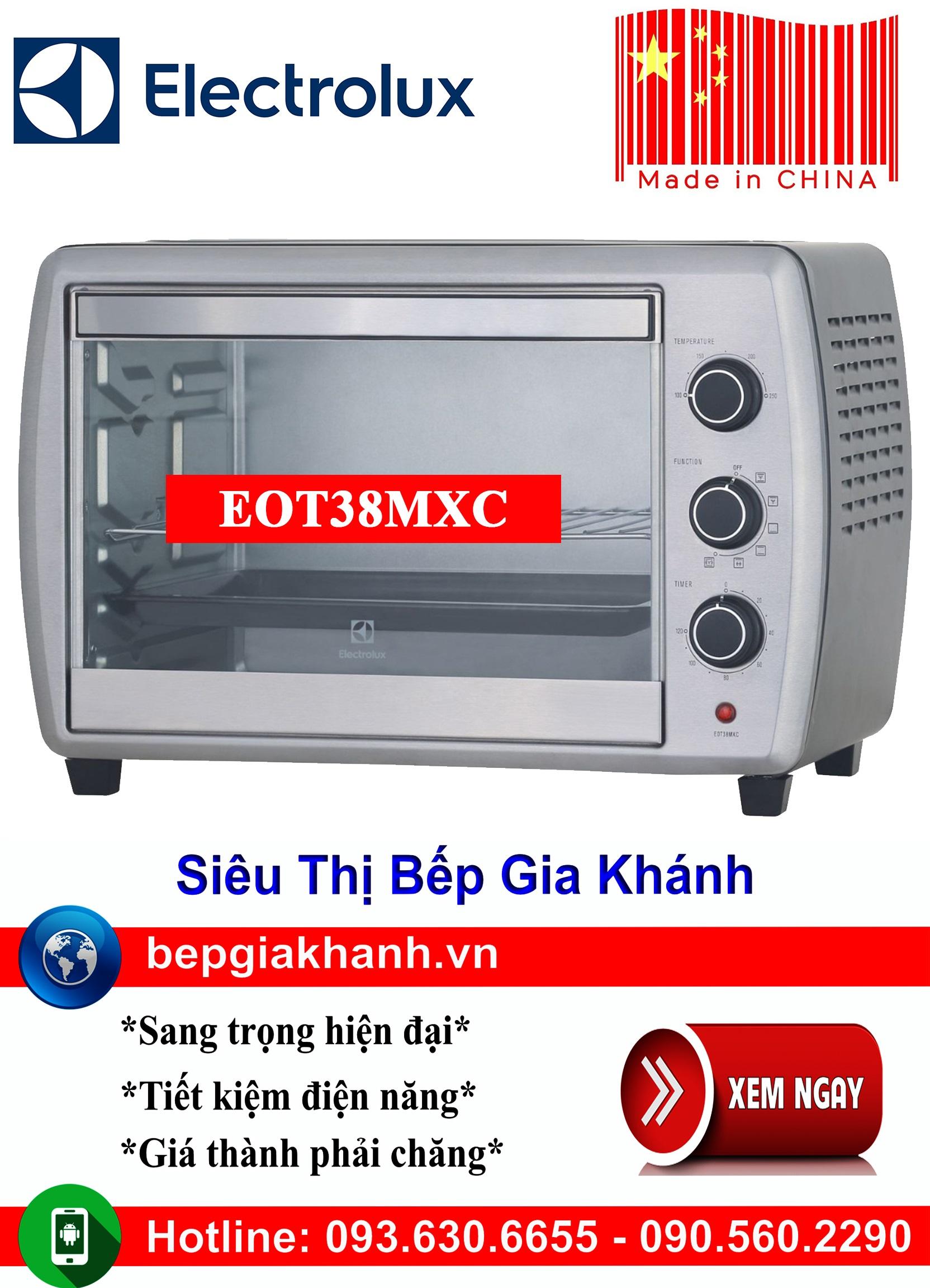Lò nướng để bàn Electrolux EOT38MXC sản xuất Trung Quốc, lò nướng, lò nướng điện, lò nướng điện đa năng, lò nướng mini, lò nướng bánh, lò nướng lock and lock, lo nuong, lo nuong dien da nang