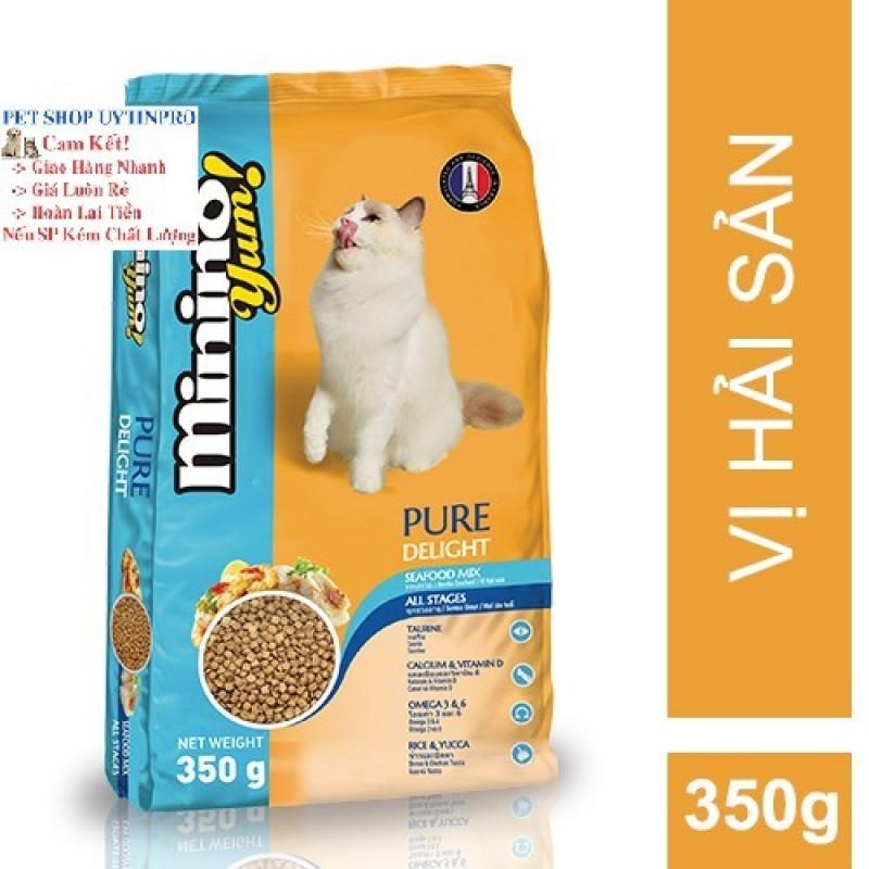 THỨC ĂN CHO MÈO Minino Yum dạng hạt Gói 350g thương hiệu pháp