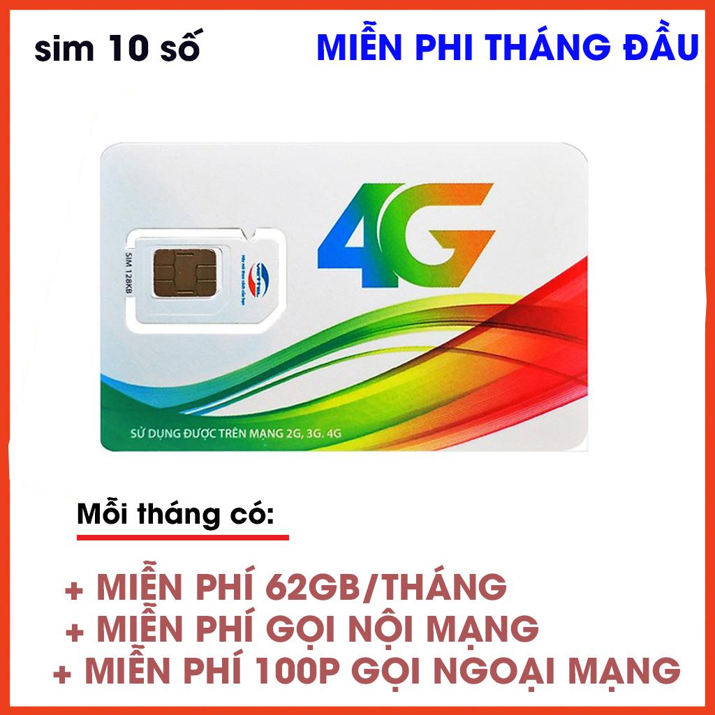 Giá [Free tháng đầu] Sim 4G Viettel V120 Mỗi tháng có  (62GB + Miễn phí gọi nội mạng +100 phút gọi ngoại mạng)