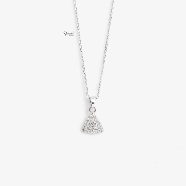 Dây chuyền bạc Senyda tam giác đá treo DC188