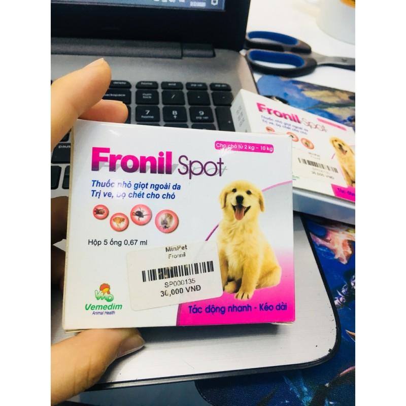 Thuốc Nhỏ Gáy Phòng Và Trị Ve Rận Bọ Chét Cho Chó Fronil Spot