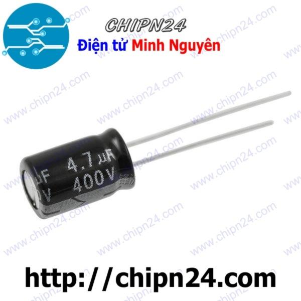 Bảng giá [Nhập ELJAN11 giảm 10%, tối đa 200k, đơn từ 99k][10 CON] Tụ hóa 4.7uF 400V đen 8x12mm