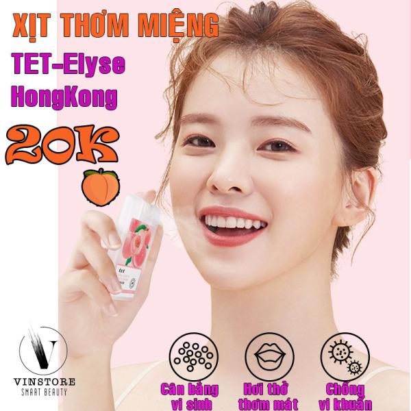 Xịt thơm miệng kháng khuẩn TET-Elyse HongKong hương đào