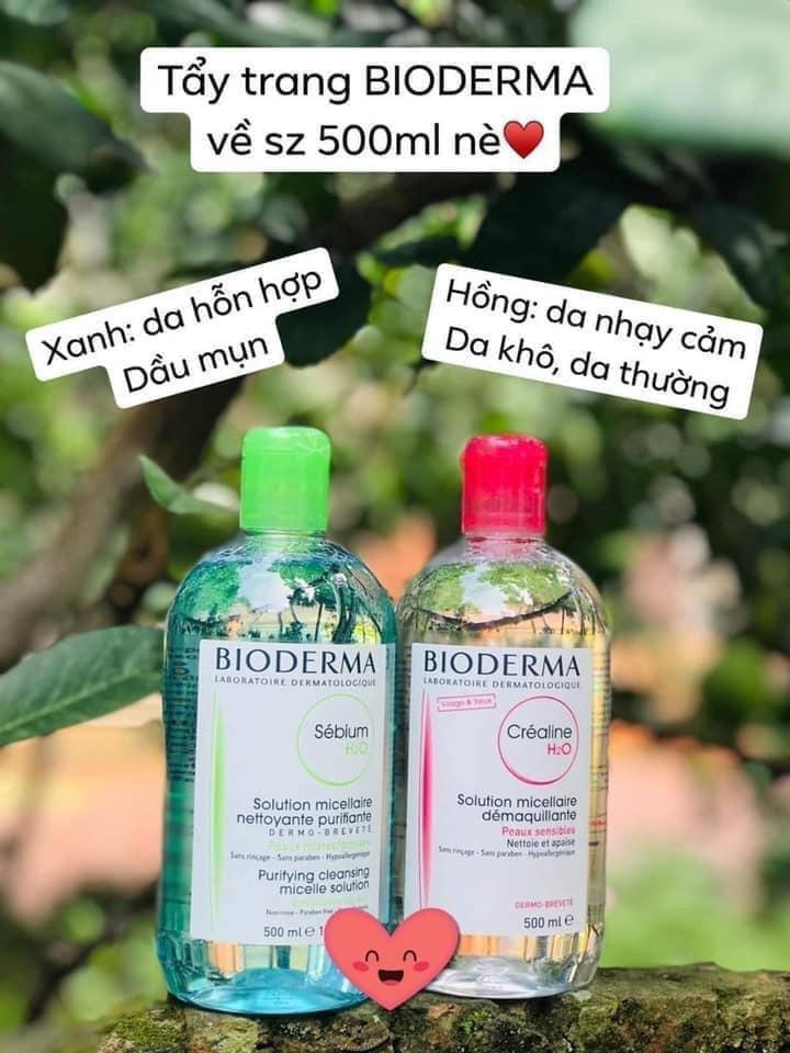 Nước tẩy trang Bioderma (500ml) (TẨY TRANG QUỐC DÂN) nhập khẩu