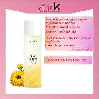 Nước cân bằng dưỡng trắng da chống lão hoá hoa cúc Nacific Real Floral Toner Calendula chính hãng Hàn Quốc 180ml thumbnail