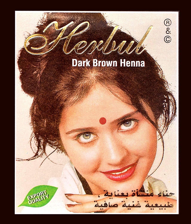 ĐỦ 8 MÀU Hộp 6 gói Bột Thuốc Nhuộm Tóc Thảo Dược Henna Herbul Ấn Độ tốt nhất