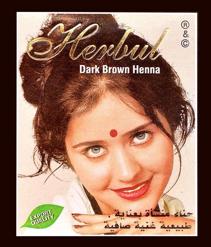 ĐỦ 8 MÀU Hộp 6 gói Bột Thuốc Nhuộm Tóc Thảo Dược Henna Herbul Ấn Độ cao cấp