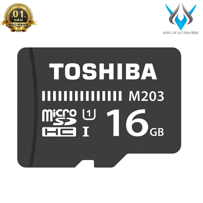 Thẻ nhớ MicroSDHC Toshiba M203 UHS-I U1 16GB 100MB/s - Không Box (Đen) - Phụ Kiện 1986
