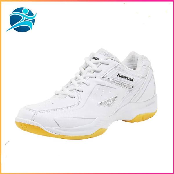 Giày đánh cầu lông nam nữ Kawasaki K077 màu trắng - đế kếp chống trơn trượt - da PU mềm ôn chân - Giày bóng chuyền - giay cau long - giày thể thao - B.sport