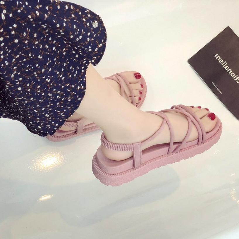 Giày sandal nữ nhựa dây tròn futishop giá rẻ