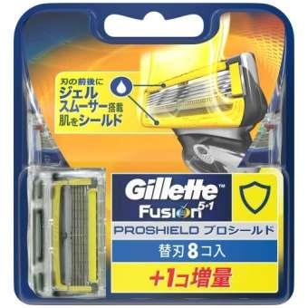 Vỉ 8 Lưỡi dao thay thế Gillette Fusion 5 + 1 Proshield Nhật Bản giá rẻ