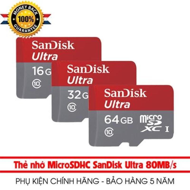Thẻ nhớ micro SD sandisk Ultra A1 4GB / 8GB / 16GB / 32GB / 64GB / 128GB SDXC class 10 100Mb/s (có áo thẻ) Bảo hành 5 năm