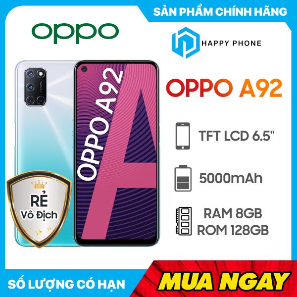 Điện thoại Oppo A92 Bộ nhớ trong 128GB | Hàng chính hãng, Nguyên Seal, Mới 100% | Bảo hành chính hãng 12 tháng | Màn hình lớn 6.5 inch | Pin 5000 mAh